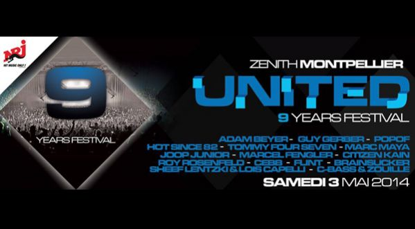 United 9 Years Festival au Z&eacute;nith de <strong>montpellier</strong>
