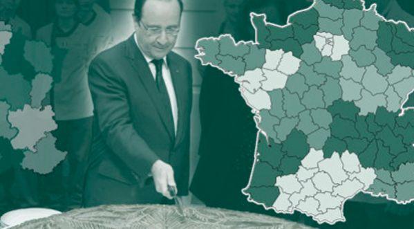 La nouvelle carte de France des régions !