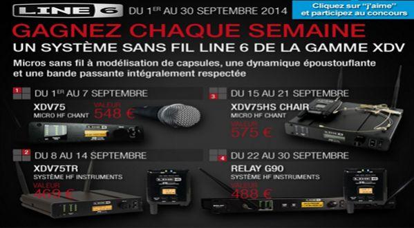 4 micros sans fil de la gamme XDV &agrave; <strong>gagner</strong> avec Line 6 et SonoVente.com !