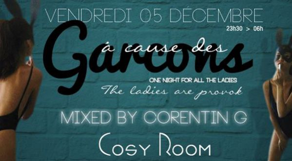� CAUSE DES GAR�ONS BY STAND OUT / MUSIC BY DJ CORENTIN G AU COSY ROOM le 05/12
