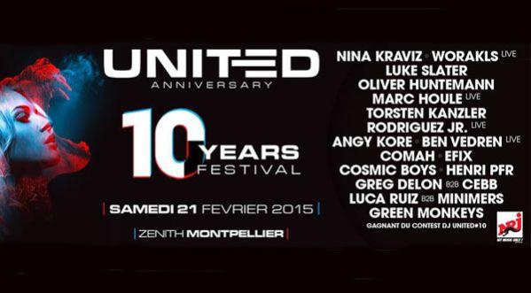 Gagne 3x2 places pour les 10 ans de United le 21.02 @zenith montpellier