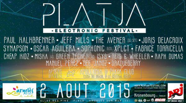 Découvrez la 1ère édition du Platja Electronic Festival le dimanche 2 Août à Argelès-sur-Mer