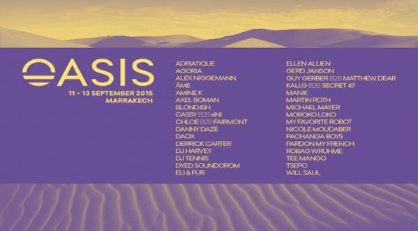 Oasis Festival dévoile sa programmation complète 2015