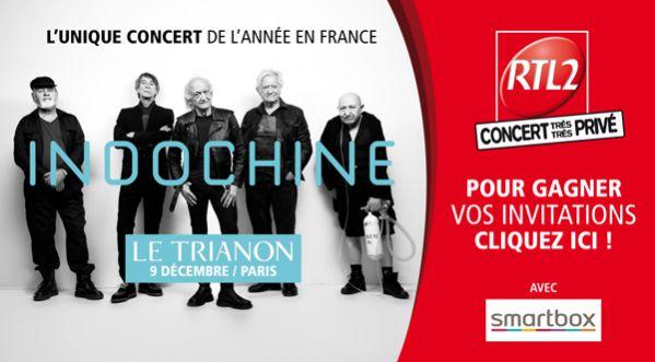 Indochine : gagnez <strong>vos</strong> invitations pour leur Concert Tr&egrave;s Tr&egrave;s Priv&eacute; RTL2 &agrave; Paris