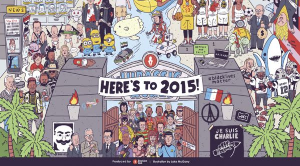 L'année 2015 vue par Luke McGarry !