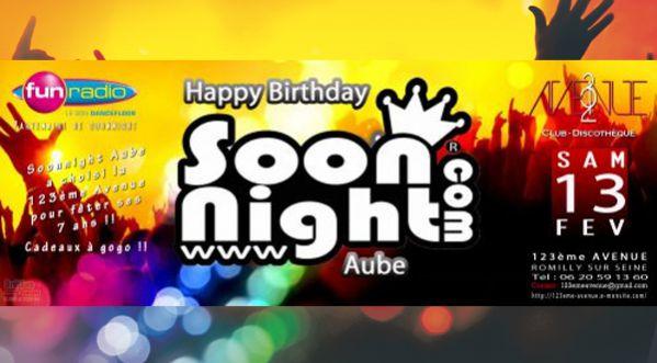 <strong>happy</strong> 7th Birthday Soonnight Aube &agrave; la 123e Avenue