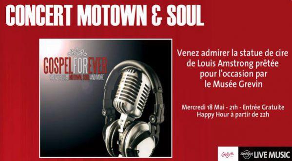 L�esprit <strong>motown</strong> &agrave; l�honneur Mercredi 18 mai au Hard Rock Cafe Paris