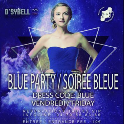Soirée D'sybell club Blue party