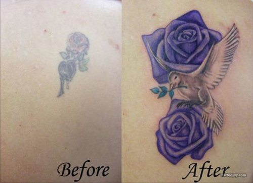 avant/apres : un nouveau tatouage pour camoufler l'ancien