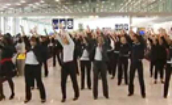 Flash mob d'Air France à Roissy