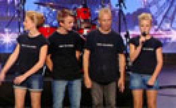 La France a un incroyable Talent : La famille Rock chante Burn The Rubber