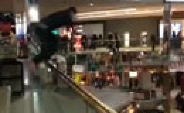 Plongeon en plein centre commercial