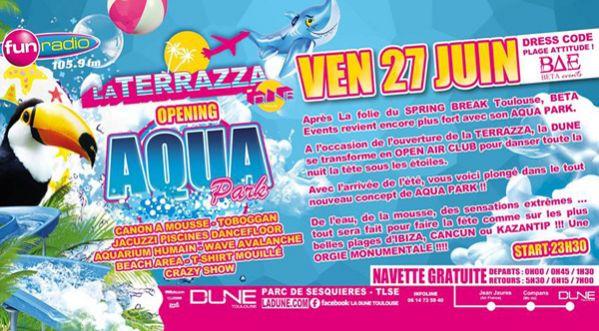 Aqua Park @ La Terrazza Vendredi 27 Juin !!