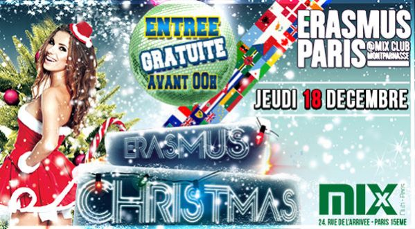 Erasmus Christmas Party Au Mix Club Jeudi 18 Decembre !