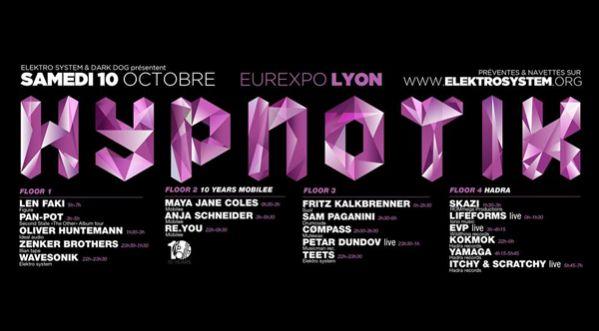 Hypnotik Festival 2015 - Le 10 Octobre 2015 / Eurexpo Lyon