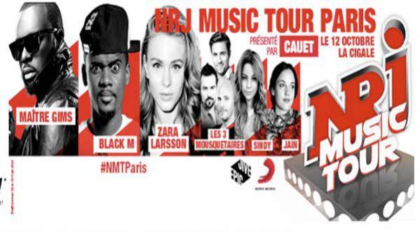 Nrj Music Tour à Paris Avec Maitre Gims, Black M, Zara Larsson... Lundi 12 Octobre