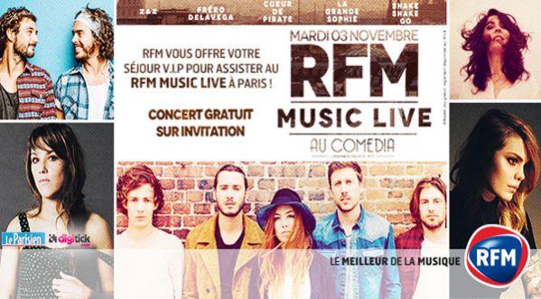 Le Rfm Music Live Au Comédia à Paris !