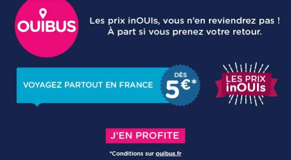 Vos Trajets à Travers La France à Partir De 5 Euros Avec Ouibus !
