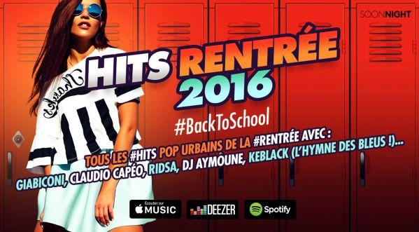 SOONNIGHT présente la compilation Hits Rentrée 2016 #BackToSchool