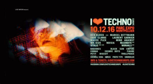 Concours: Gagne Tes Places Pour Le Festival I Love Techno Europe Qui Se Déroulera Le 10 Décembre Au Parc Des Expositions De Montpellier!