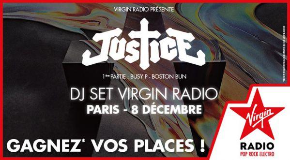 Gagne tes places pour le DJ set de Justice avec Virgin Radio!