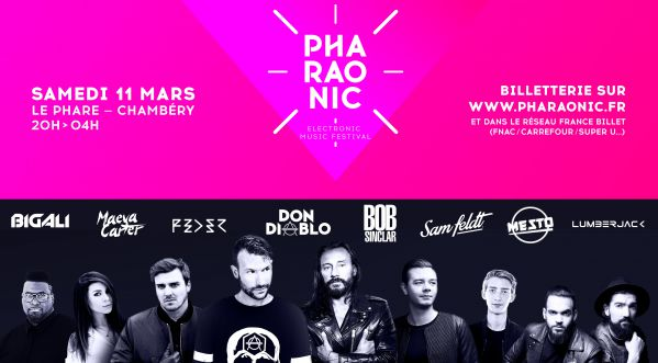 Pharaonic Electronic Music Festival le 11 mars 2017 au Phare de Chambéry