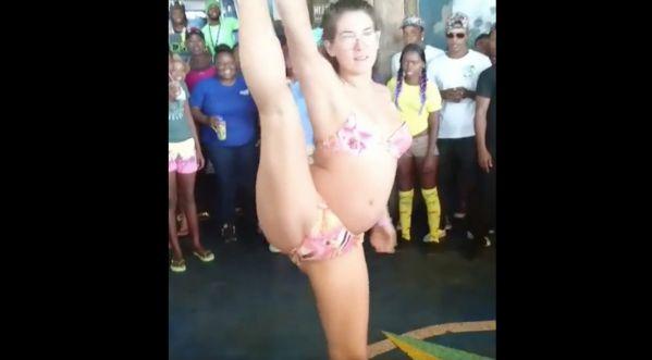 Quand une femme enceinte danse et twerk ça donne ça...