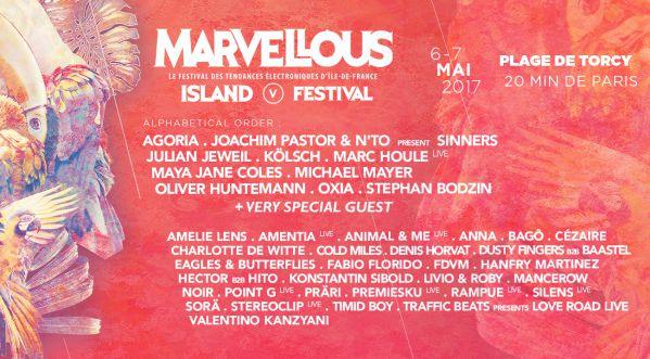 Le festival Marvellous Island revient pour une 5ème édition à la Plage de Torcy