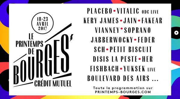 SoonNight t'offre tes places pour le Printemps de Bourges!