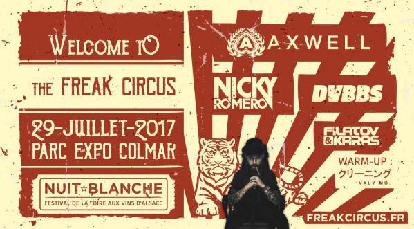 Gagnes tes places pour la Nuit Blanche - Freak Circus le 29 juillet