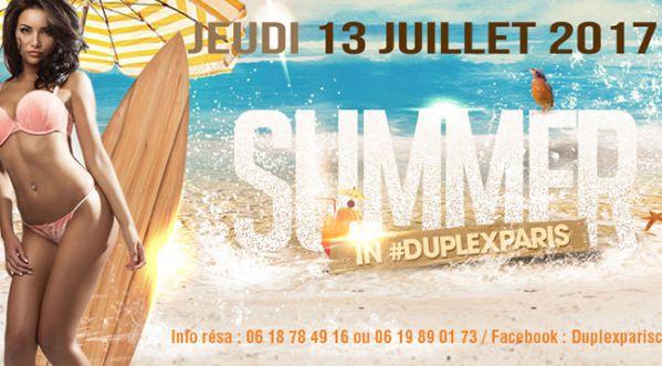 Summer Party Ce Jeudi Au Duplex !