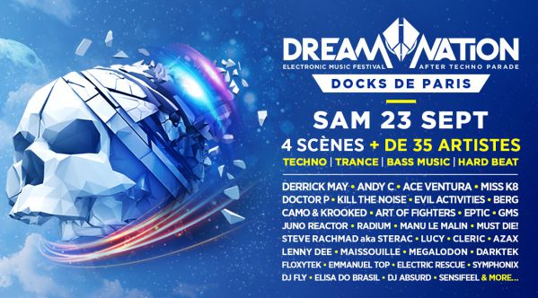 Le festival Dream Nation (after techno parade) dévoile sa programmation complète !
