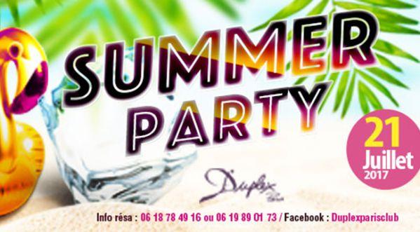 Summer Party ce  vendredi au Duplex !