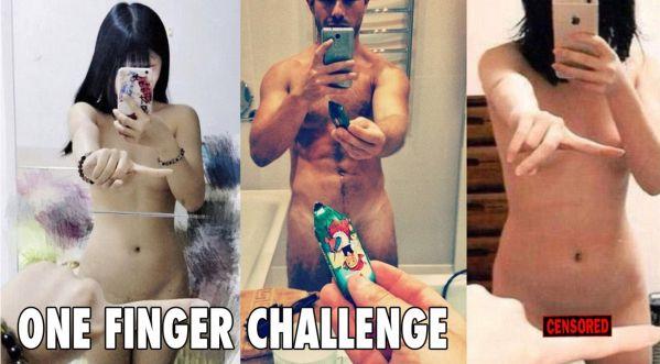 Le one finger selfie challenge est de retour