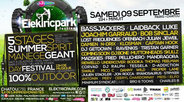 La 1ère édition de l'Elektric Parc est lancée ! RDV le Samedi 09 Septembre près de Paris