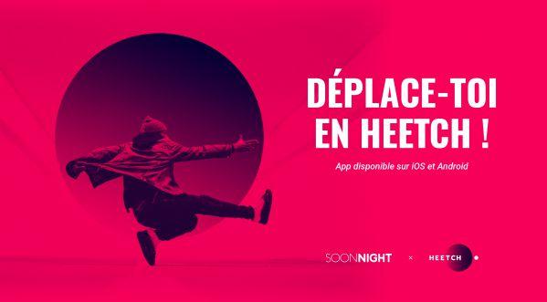 Heetch X SoonNight : 10 euros de réduction sur votre 1ère réservation avec le code SoonNight !