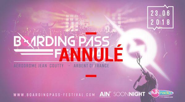Annulation du Boarding Pass Festival