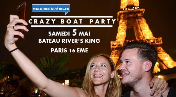 Crazy Boat Party / Samedi 5 Mai / Soirée Bateau Paris Avec Croisiere, Buffet, Open Bar, 2 Ambiances, Terrasse Geante