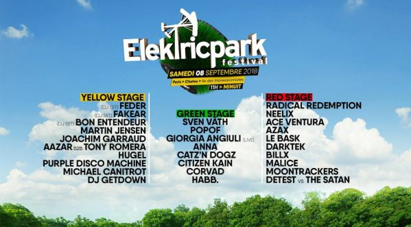 L'Elektric Park Festival, c'est le 8 septembre sur l'île des impressionnistes