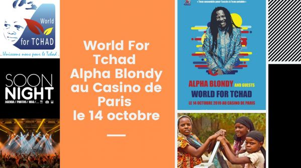 World For Tchad : Alpha Blondy au Casino de Paris le 14 octobre