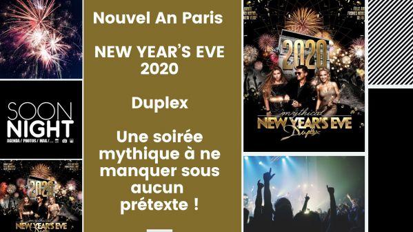 Nouvel An Paris / New Year's Eve 2020 / Duplex : Une Soirée Mythique à Ne Manquer Sous Aucun Prétexte !