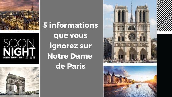 5 informations que vous ignorez sur Notre Dame  de Paris