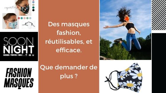 Bon plan SoonNight : des masques réutilisables et fashion