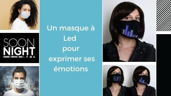 Un masque à Led pour exprimer ses émotions