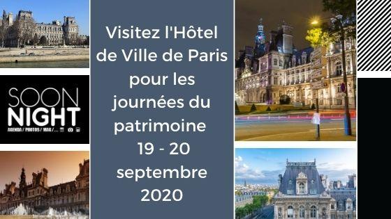 Visitez l'Hôtel de Ville de Paris pour les journées du patrimoine / 19 - 20 septembre 2020