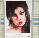 Hommage à Amy Winehouse à Londres.