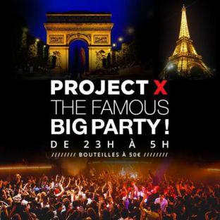 Soirée clubbing PROJET X BOAT THE BIG PARTY ( BATEAU, CLUB, TERRASSE, 2 SALLES ) Samedi 03 septembre 2016
