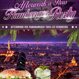 After Work AFTERWORK HAMBURGER PARTY SUR LES TOITS DE PARIS (club intérieur + terrasse chauffée) Vendredi 02 septembre 2016