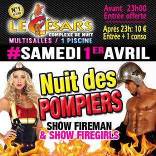 Soirée clubbing Nuit des Pompiers Samedi 01 avril 2017