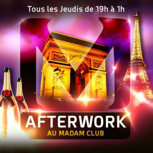 After Work AFTERWORK MOJITO @ MADAM CLUB CHAMPS ELYSEES Jeudi 01 juin 2017